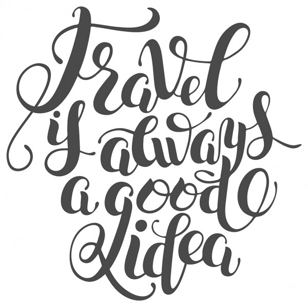 Wandtattoo Spruch Motto Travel is always a good idea Wandsticker Deko
