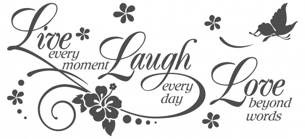 Wandtattoo Spruch Motto Live Laugh Love Wandsticker Dekoration