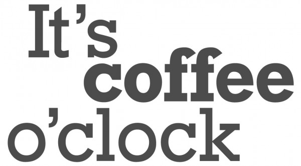 Wandtattoo Spruch lustig It's coffee o'clock Wandsticker Dekoration