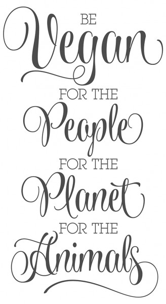 Wandtattoo Spruch Küche Be vegan for the people planet animals Deko