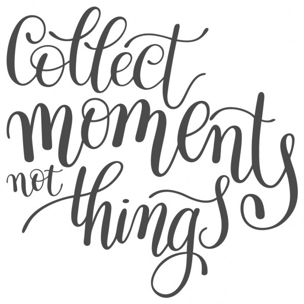 Wandtattoo Spruch Motto Collect moments not things Wandsticker Deko