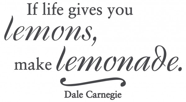 Wandtattoo Spruch Zitat If life gives you lemons - Dale Carnegie