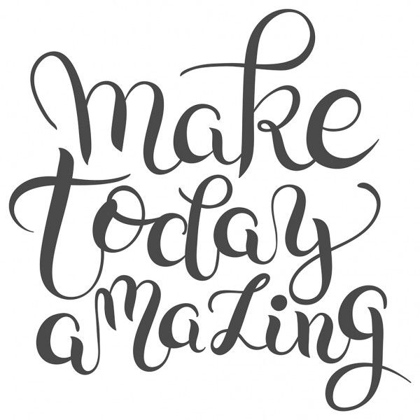 Wandtattoo Spruch Motivation Make today amazing Wandsticker Deko